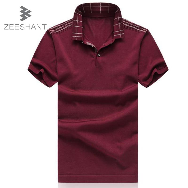 ZEESHANT M-6XL New Men Polo Shirt Men Business & Casual solid male polo shirt Short Sleeve breathable polo shirt Camisas Polo