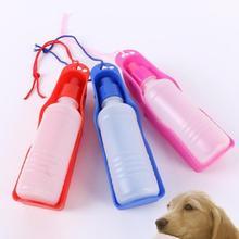 Спортивная бутылка для воды для путешествий с собакой, 250 мл, пластиковая легкая синяя уличная бутылочка для питья, портативная бутылка для домашних животных F150