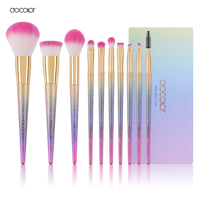 Fansty 10pcs Makeup Brush Set NEW ARRIVAL High Quality Makeup Brushes With Colorful Handle