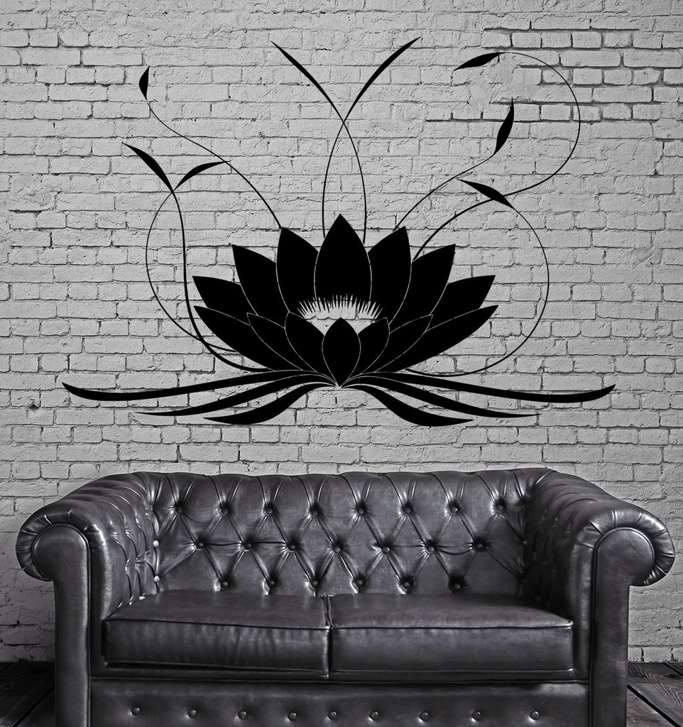 Lotus flower buddha wall stickers yoga studio meditate wall tattoo home design waterproof wall for Lotus garden meditation center