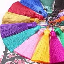 4 colors 8cm Silk Tassel Fringe Sewing Bang Trim Key Tassels for DIY Embellishment Curtain Accessories Parts