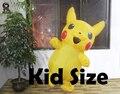 Más nuevos Niños Pikachu Traje Inflable Divertido Disfraz de Halloween Para 0.9 m-1.3 m Inflables Para Niños Trajes Pokemon Cosplay Costume