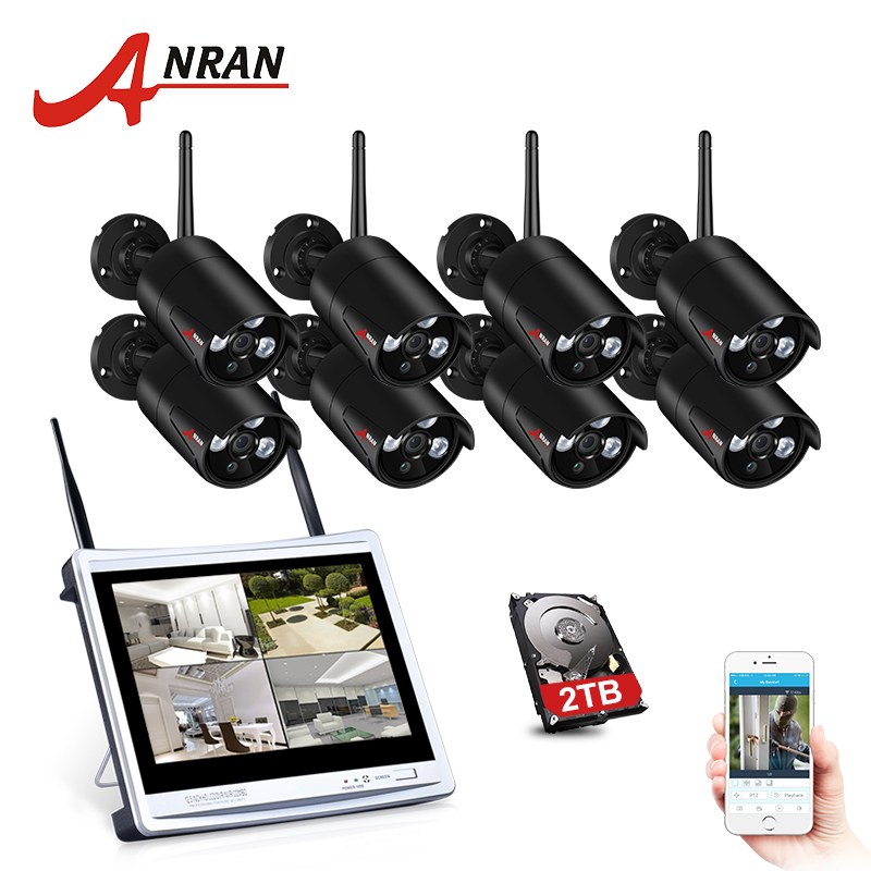 ANRAN 8CH Wireless Surveillance System 12\