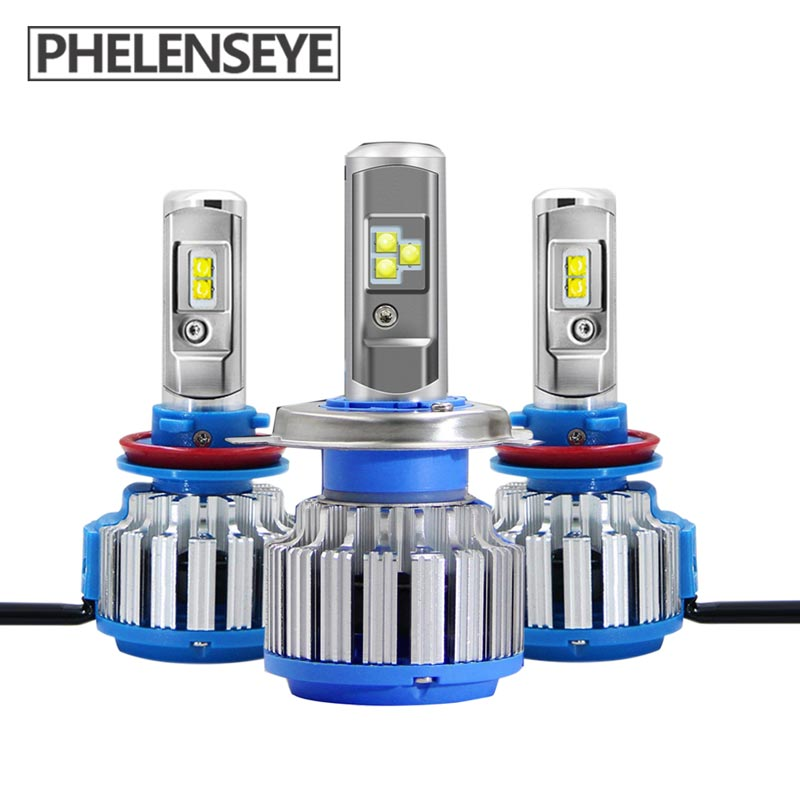 H4 HB2 9003 H7 H11 9005 9006 Car LED Headlight Bulb with Optical lens 8000LM Headlamp