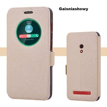 For Asus Zenfone 5 A500CG A501CG Cases,Silk Pattern Smart Window Phone Cases Covers For Asus Zenfone 5 A500CG A501CG