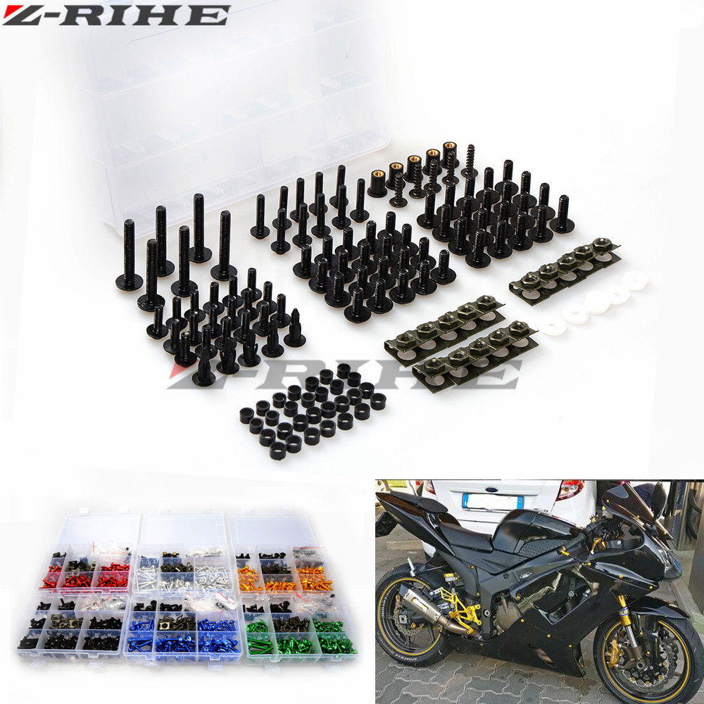 For YAMAHA YZF R1 R6 R3 Kawasaki ER6F ER6N ER 6N 6F Z800 Z900 Motorcycle Fairing Bolt Screw Nuts Washers Fastener Fixation 3pcs battery charger 7 4v rechargeable li ion battery for olympus e300 e500 e3 e5 e520 e510