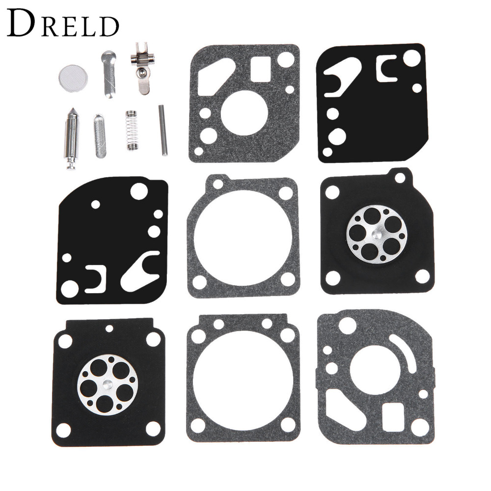 DRELD Carburetor Carb Diaphragm Rebuild Repair Kit for ZAMA RB-29 Ryobi Homelite PLT3043 PLT3043S ST155 Carb Garden Tool Parts 50pcs whole sale price trimmer spare parts fuel filter for husqvarna ryobi poulan zama zf 1 homelite chainsaw