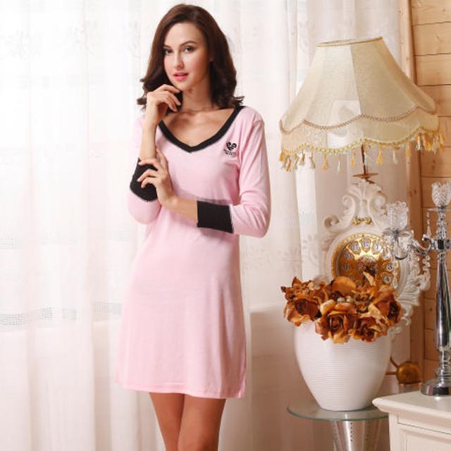 Vestido de noche del camisón de algodón de las mujeres que ocupan la casa