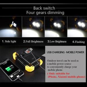 Image 5 - HA CONDOTTO il Riflettore 20w di ricarica USB del Proiettore HA CONDOTTO Il Riflettore DC5V 18650 Ricaricabile Portatile Alimentato A Batteria LED faro di campeggio