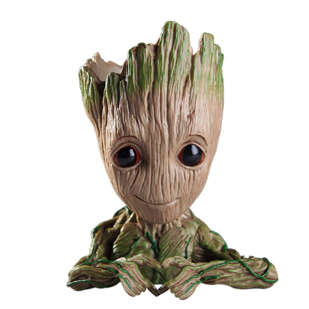 New Baby Groot Flower Pots Planter Action Figures Toy Tree Man Cute Model Toy Pen Flower Pot Home Decoration Gifts