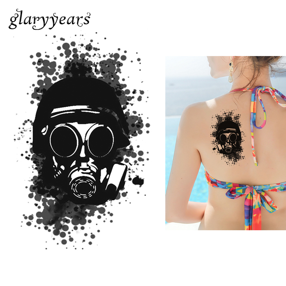 Tattoo & Body Art Steady 1pc Flower Arm Diy Decal Temporary Tattoo Km-099 Black Gas Mask Design Body Art Fake Tattoo Sticker Ink New Arrival 2019 Fashion Moderate Price Back To Search Resultsbeauty & Health
