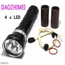 Powerful Led Flashlight XHP70 40W 10000LM CREE LED Diving Flashlight Underwater 100M Waterproof Lanterna Torch White Light