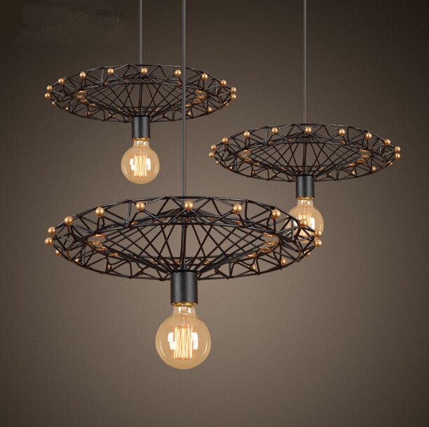 Loft Creative Personality Restaurant Bar Chandelier American Industrial Retro Country Iron Ferris Wheel Chandelier Free Shipping nordic american country retro industrial loft restaurant bar creative personality living room small metal frame lamp chandelier