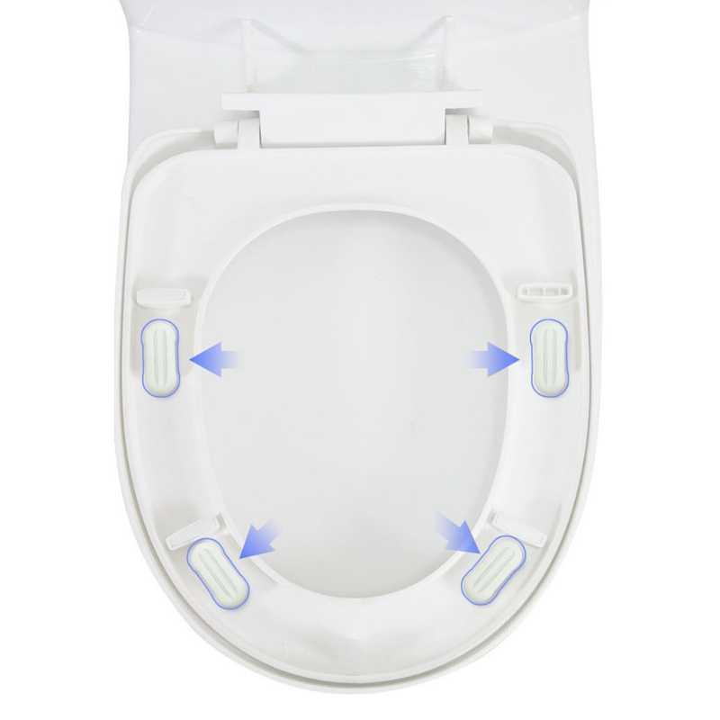 Brilliant 4 Pcs Set Bumpers Toilet Seat Toilet Seat Cover Lifter Kit Machost Co Dining Chair Design Ideas Machostcouk