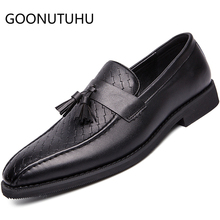 2019 new fashion men's casual shoes leather classic black loafers man hot sale slip on shoe male driving shoes for men szie 6-10 ubfen 2017 hot sale casual shoes for men handmade slip on comfortable and soft fashion classic loafers male lazy driving shoes