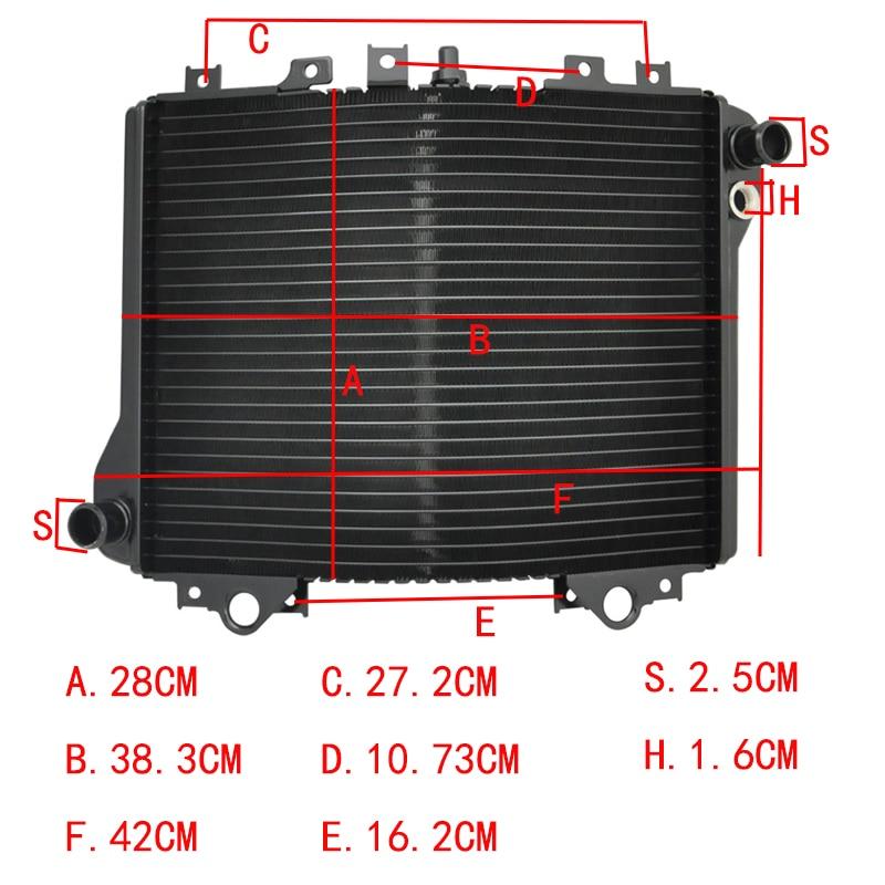 LOPOR オートバイエンジン冷却カワサキニンジャ ZX11 ZZR1100 ZX1100 D1 D9 1993 2001 オートバイ部品  グループ上の 自動車 &バイク からの エンジン冷却 & アクセサリ の中 1