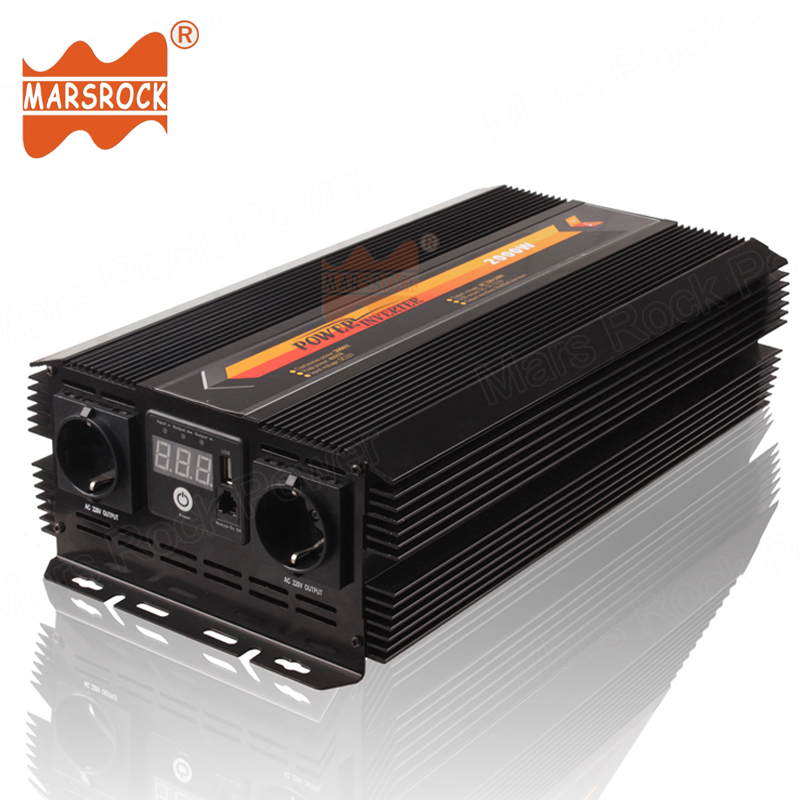 2000W Modified Sine Wave Off Grid Solar Power Inverter 12V 24V 220V AC LED display Remote controller switch USB Charger Car Home maylar 22 60vdc 300w dc to ac solar grid tie power inverter output 90 260vac 50hz 60hz