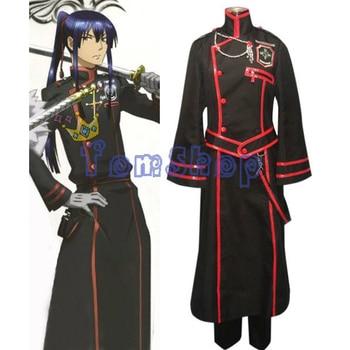 Anime D Gray-man Kanda Yuu 3rd Cosplay Uniform Suit Full Set Men's Costumes Custom-made Free Shipping