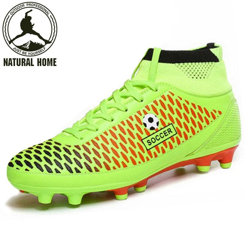 a2f9819120336  NaturalHome  hombres de la marca de Alta Superior Botines de Fútbol Botas  AG Botas de Futbol Hombres Zapatos de Tobillo Zapatillas Botas de Tacos de  Fútbol ...