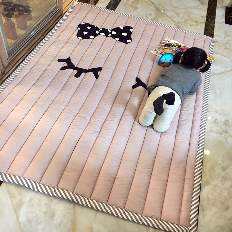 Infant Shining Baby Play Mat 3CM Thickness Thickening of Folding 140X195CM Cartoon Baby Rug The Game Blanket Bedroom Mat