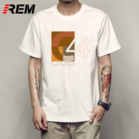 REM Men T Shirts Praise The Sun Design Digital Printing 100 Combed Cotton Casual Summer Customized