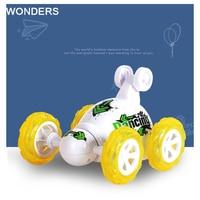 Cartoon Style RC Car Stunt Car Radio Electric Dancing Drift Model Rotating Wheel Vehicle Motor Remote