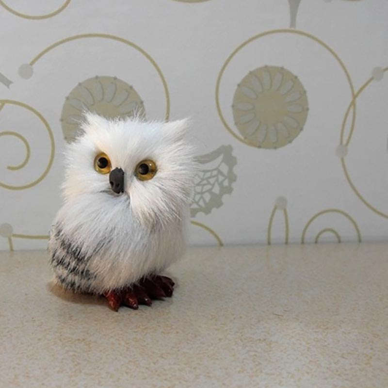 10PCS Static owl model cute snow owl doll cute toy adult kid birthday christmas