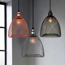 Luces colgantes nórdicas Vintage para jaula De pájaros, lámparas colgantes De iluminación para decoración De techo para comedor o cocina