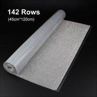Hot Sale 1.2meter Shiny Rhinestone chain mesh SS8 stones glue base Silver/gold Aluminum mesh for garment free shipping