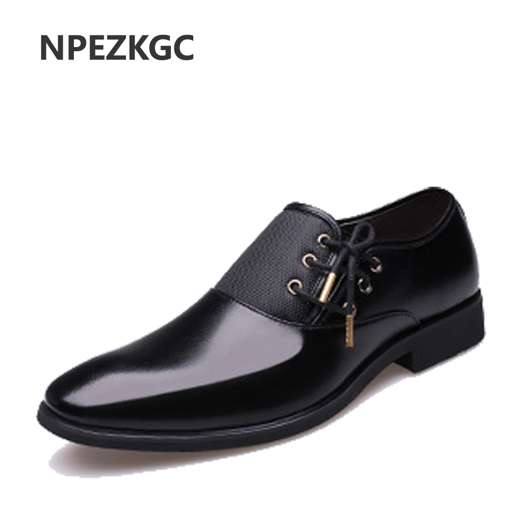 NPEZKGC 2019 New Fashion Genuine Leather Men Casual Shoes Luxury Brand Men Shoes Leather Shoes Men