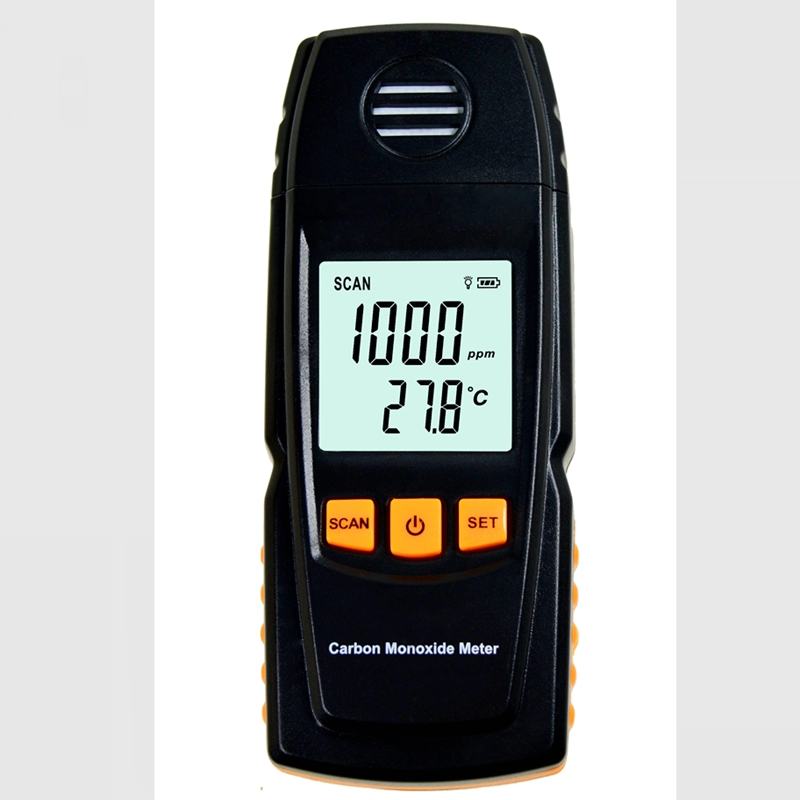 Digital Carbon Monoxide Meter High Precision Portable CO Gas Monitor Detector Gauge 0-1000ppm Gas Leak Tester Alarm Indication