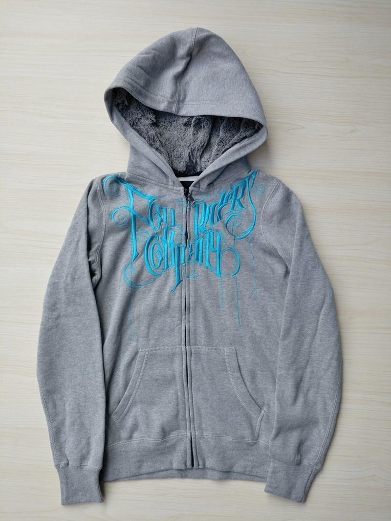Women MX BMX Fur hood Embrodiery Hoodie USA Size S,M,L