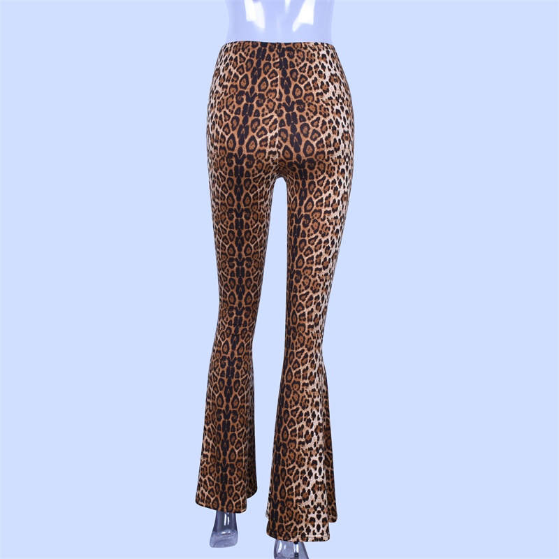 HTB1YOM2XdjvK1RjSspiq6AEqXXaw Hugcitar high waist leopard print flare leggings 2020 autumn winter women fashion sexy bodycon trousers club pants
