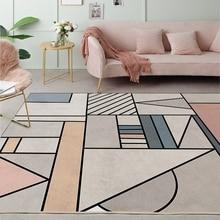 Креативные геометрические узоры ковры большая гостиная спальня чайный столик в скандинавском стиле ковер домашний декор Противоскользящие коврики