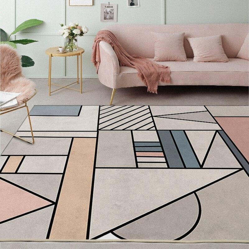 Creative Geometric Patterns Carpets Large Living Room Bedroom Tea Table Nordic Style Area Rugs Home Decor Anti-Skid Floor Mats