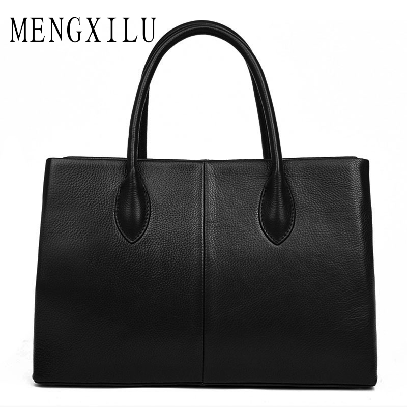 MENGXILU Brand Fashion Women Bag Designer Handbags High Quality Genuine Leather Bags Women Shoulder Bag Ladies Handbags Sac 2018 mengxilu brand tote luxury handbags women bags designer handbags high quality pu leather bags women crossbody bag ladies new sac