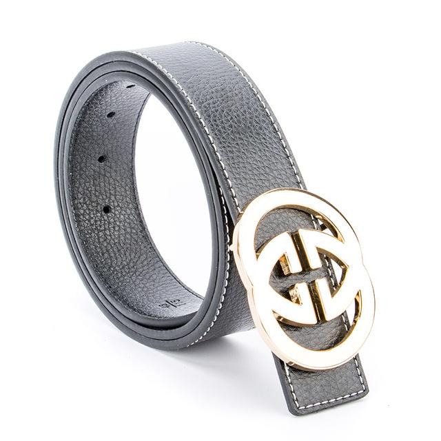 2017 Nueva Marca De Lujo de Doble G Cinturones Diseñador de Alta calidad Masculina GG Hebilla de Correa de Cuero Genuino de Las Mujeres Reales pantalones vaqueros