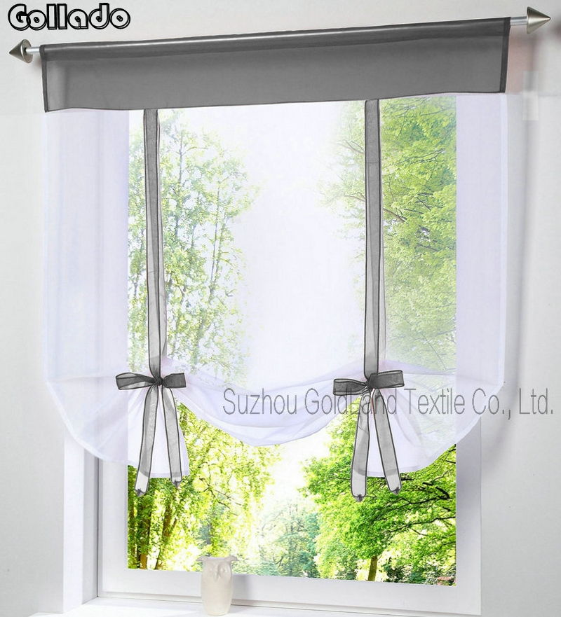German New Wave Blinds Fashion Stitching Colors Living Room Balcony Tieblinds Window Curtain 1pcs
