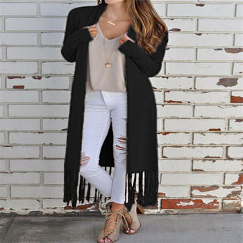 2019 Autumn Winter Fashion Women Long Sleeves Loose Knitting Cardigan Sweater Women Knitted Female Tassel Coat Pull Femme XL