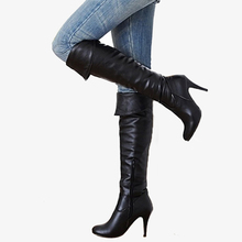 Karinluna 2018 dropship large sizes 34-50 customized thin high heel Women's Shoes Woman sexy party woman knee-high boots