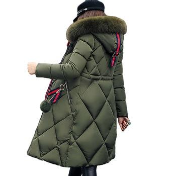 N.XINZHE Big fur hooded winter coat women thickened parka slim long jacket down cotton ladies down parka women winter jacket