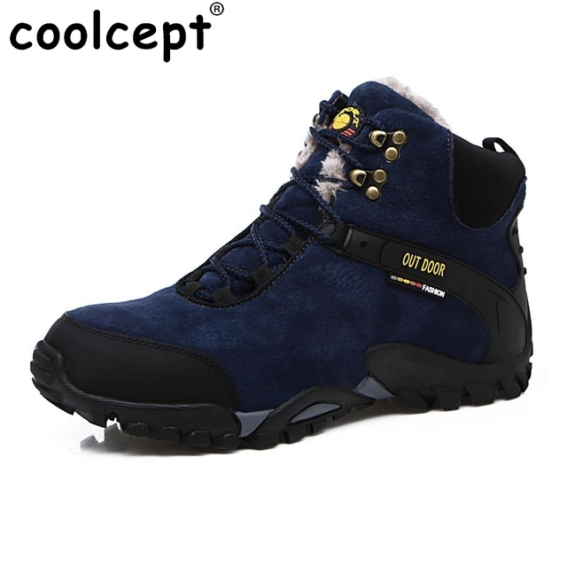 Men Outdoor Boots Male Hiking Trekking Waterproof Climbing Shoes Top Quality Non Slip Wear Resisting Suede Casual Shoes Footwear