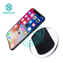 For iPhone X 8 8 Plus for Samsung S8 S8 Plus Note 8 qi wireless charger charging pad mini portable NILLKIN