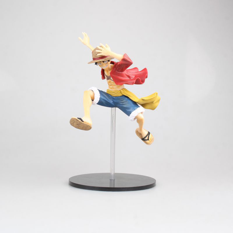 Energetic Anime 1/8th Scale One Piece The Straw Hat Pirates Monkey D Luffy Action Pvc Figure Toy Brinquedos 21cm Action & Toy Figures