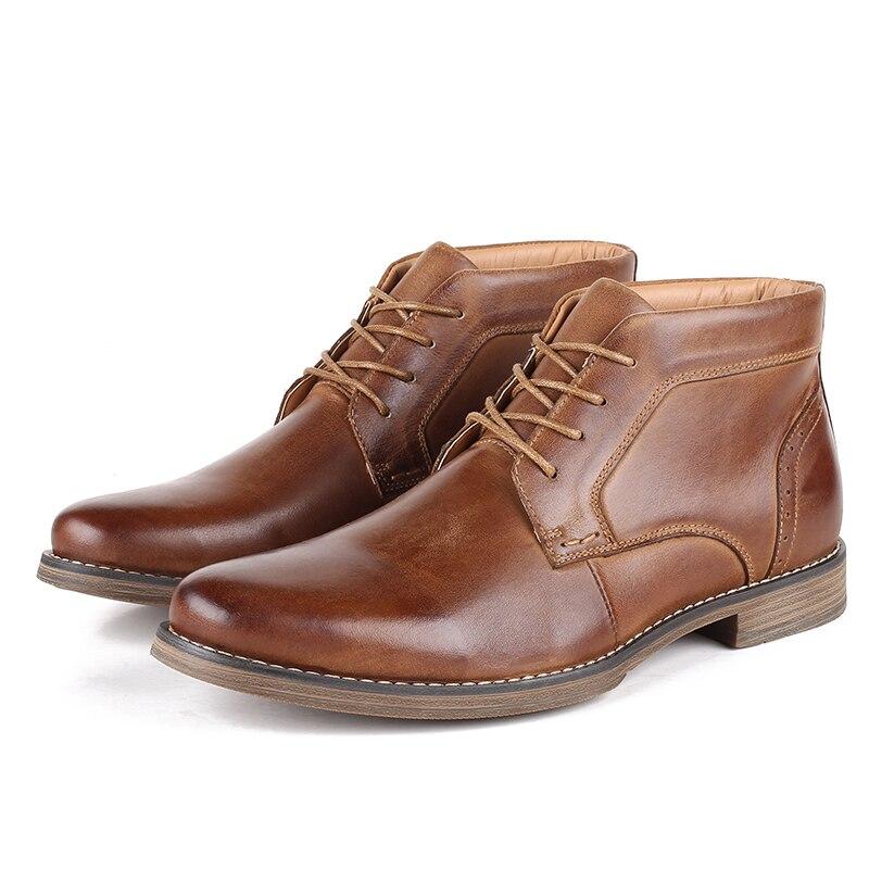 Alta Veludo Qualidade Couro Botas Grande Inverno De Além Genuíno Sapatos Dos Homens Black Fabricantes Tamanho Diretos brown Altas Desai OxAYzO