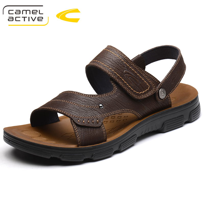 Camel Active Fashion Quality Genuine Leather Men Sandals Mesh Soft Fisherman Summer Casual Shoes Men Beach Sandalias Men Shoes