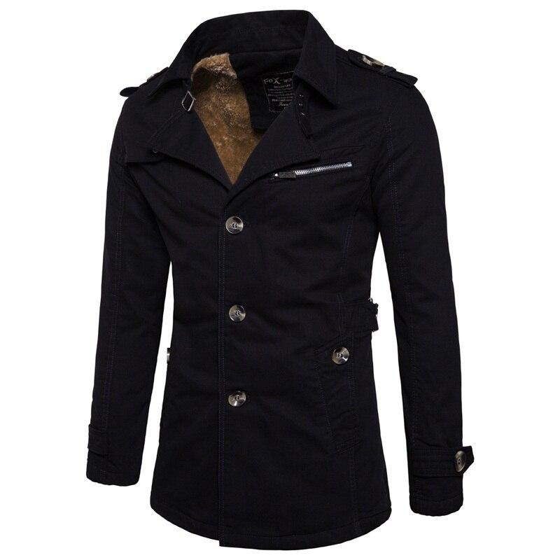 Winter cotton men's plus cashmere warm   Trench   coats , Fashion Plus Size Mens Business Jackets , Father's Day Gift Jacket men