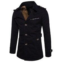 Winter cotton men's plus cashmere warm Trench coats , Fashio