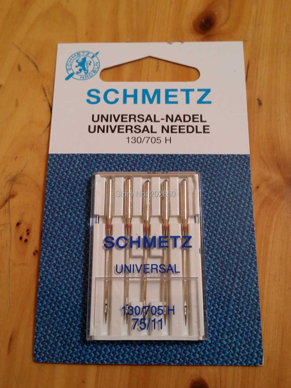 SCHMETZ UNIVERSAL Needles,130/705 H,5Pcs Needles(1 pack)/Lot,Household Sewing Machine Parts,For Brother,Singer,PFAFF,Bernina...