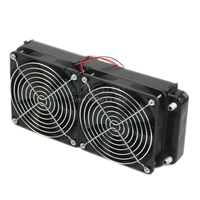CPU Heatsink Aluminum Computer Radiator Water Cooling Cooler 240mm 2 Fans Drop Shipping